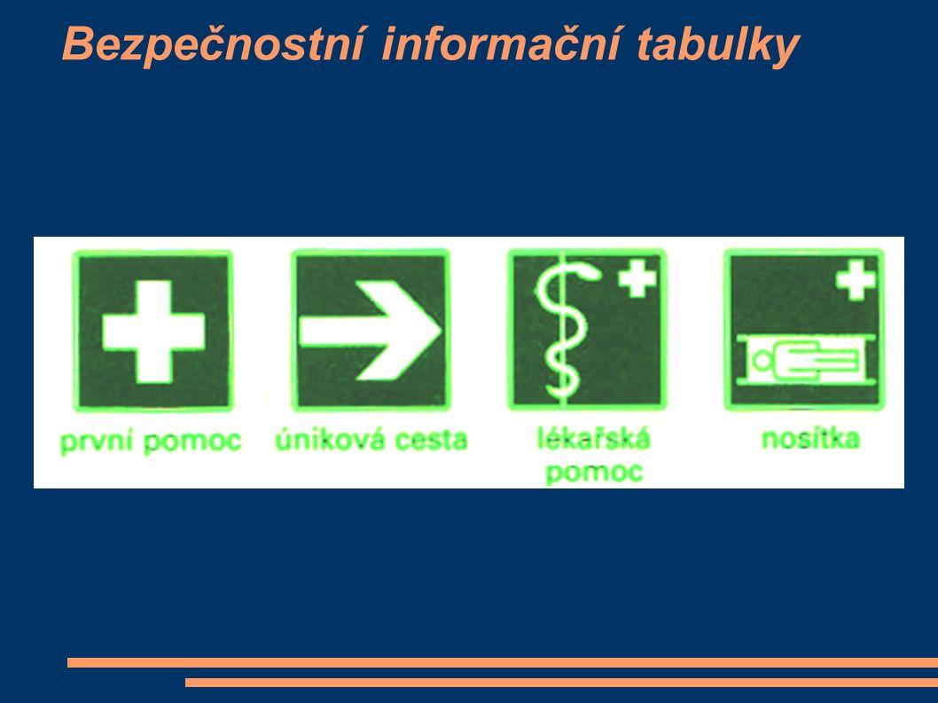 Bezpečnostní informační tabulky