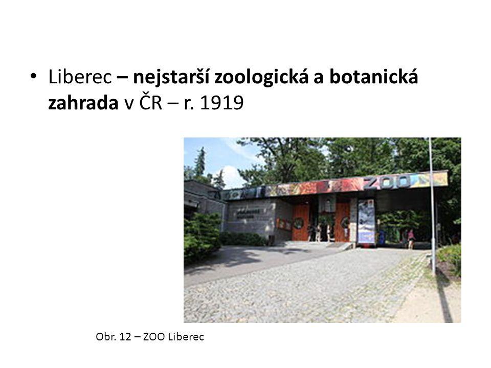 Liberec – nejstarší zoologická a botanická zahrada v ČR – r. 1919 Obr. 12 – ZOO Liberec