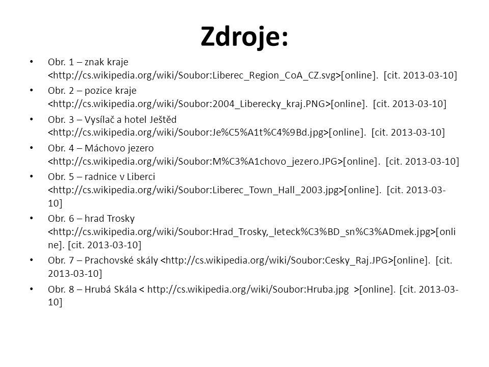 Zdroje: Obr. 1 – znak kraje  online .  cit. 2013-03-10  Obr.