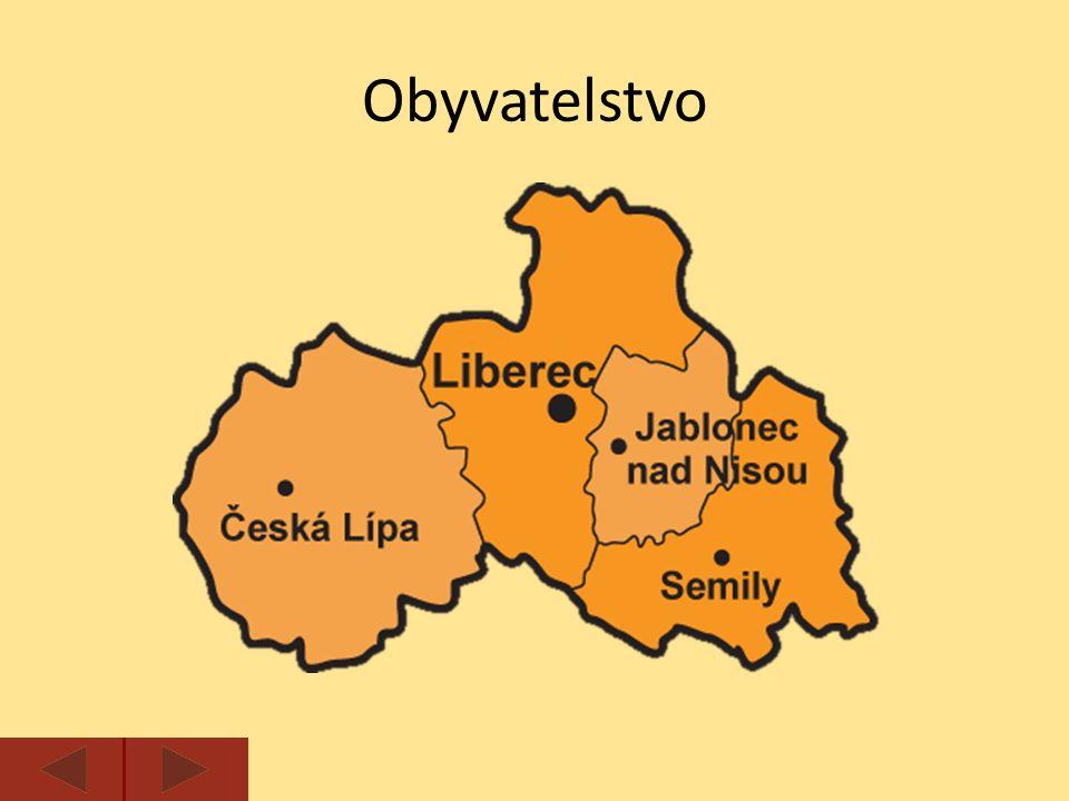 Krajským městem je Liberec.V kraji výrazně převažuje městské obyvatelstvo (80%).