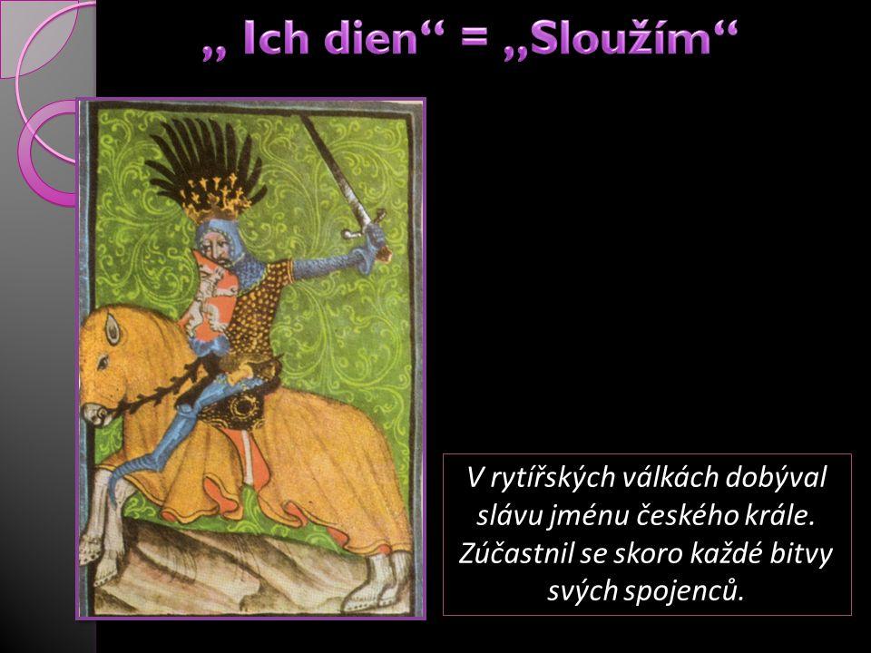 V rytířských válkách dobýval slávu jménu českého krále. Zúčastnil se skoro každé bitvy svých spojenců.