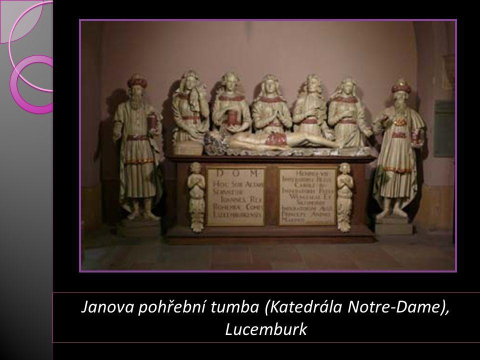 Janova pohřební tumba (Katedrála Notre-Dame), Lucemburk
