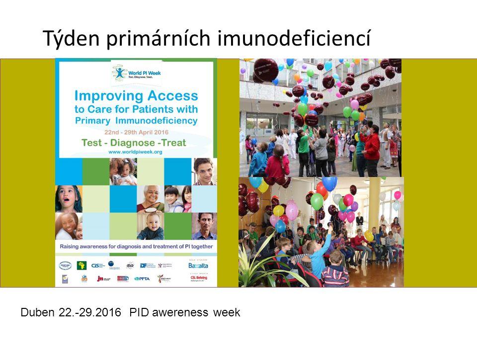Duben 22.-29.2016 PID awereness week Týden primárních imunodeficiencí
