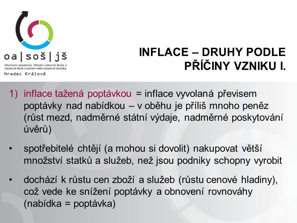 INFLACE – DRUHY PODLE PŘÍČINY VZNIKU II.