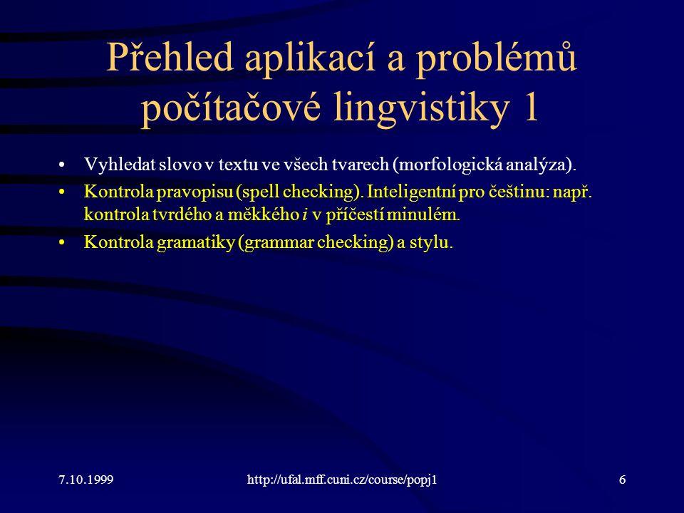Kontrola pravopisu -Prohledávání slovníku je jednoduché, jediná lingvistika je ten slovník.