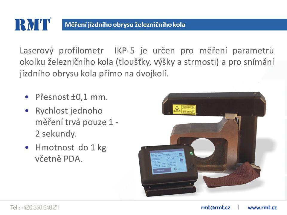 Měření rozkolí Analyzátor Laserový přístroj IMR je určen pro měření rozkolí kolejových vozidel při technických kontrolách, prohlídkách, opravách a sestavování dvojkolí.