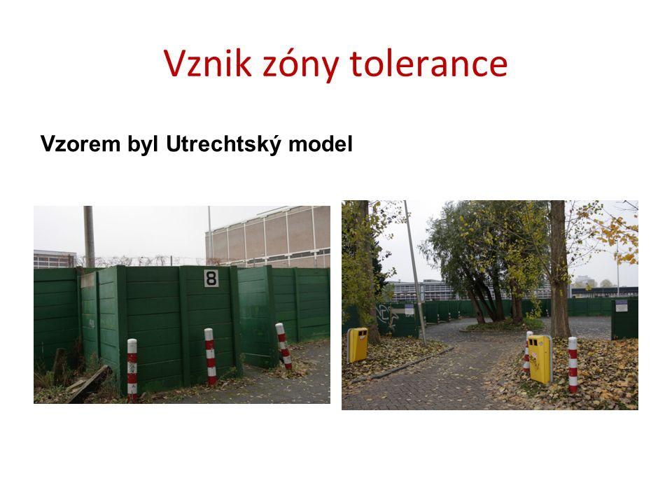 Vznik zóny tolerance Vzorem byl Utrechtský model