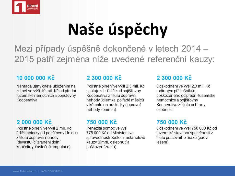 www.1zdravotni.cz | +420 733 608 091 Náhrada újmy dítěte ublížením na zdraví ve výši 10 mil. Kč od přední tuzemské nemocnice a pojišťovny Kooperativa.