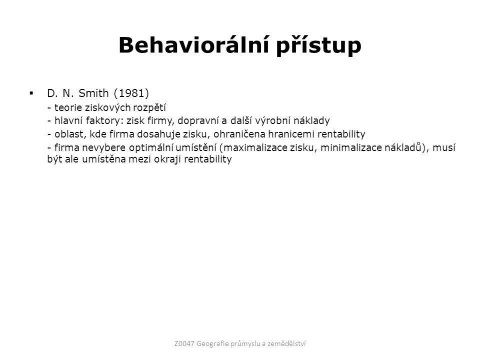 Behaviorální přístup  D. N.
