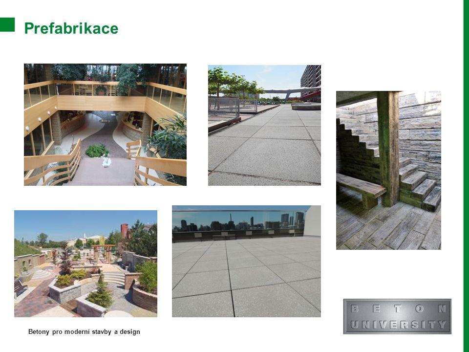 Prefabrikace Betony pro moderní stavby a design