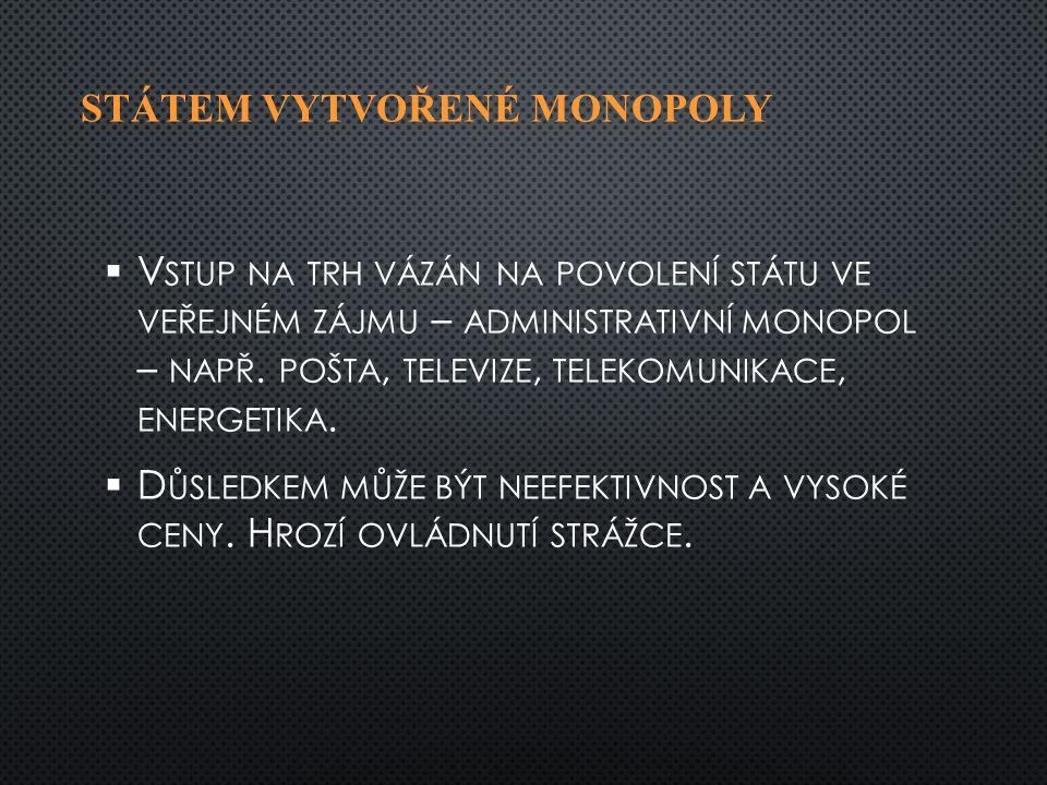 PŘIROZENÝ MONOPOL   P ŘIROZENÉ PŘEKÁŽKY VSTUPU NA TRH – NAPŘ.