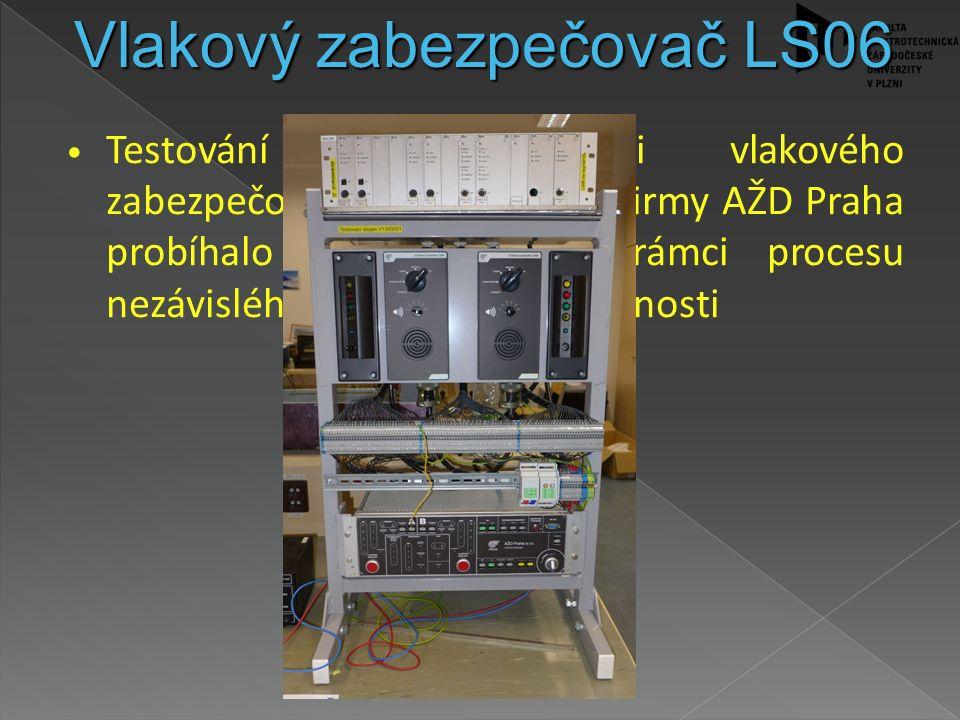 Testování mobilní části vlakového zabezpečovače typu LS06 od firmy AŽD Praha probíhalo na KAE/FEL v rámci procesu nezávislého hodnocení bezpečnosti Vl