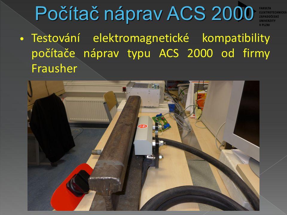 Testování elektromagnetické kompatibility počítače náprav typu ACS 2000 od firmy Frausher Počítač náprav ACS 2000