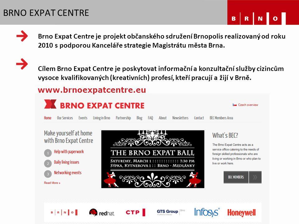 Brno Expat Centre je projekt občanského sdružení Brnopolis realizovaný od roku 2010 s podporou Kanceláře strategie Magistrátu města Brna. Cílem Brno E