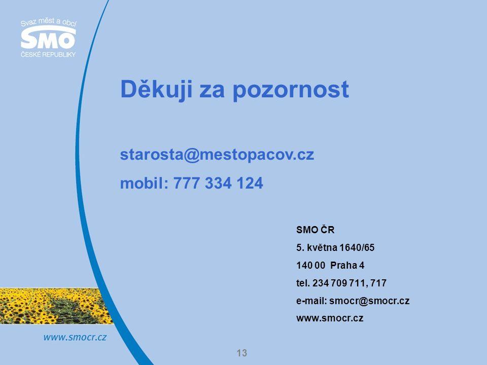 SMO ČR 5. května 1640/65 140 00 Praha 4 tel.