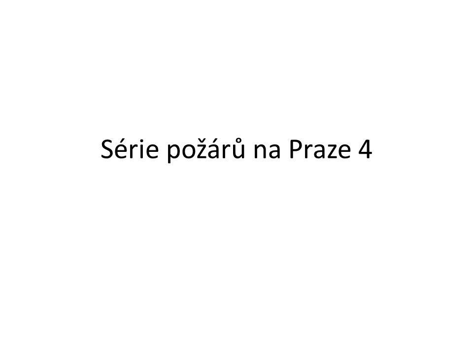 Série požárů na Praze 4