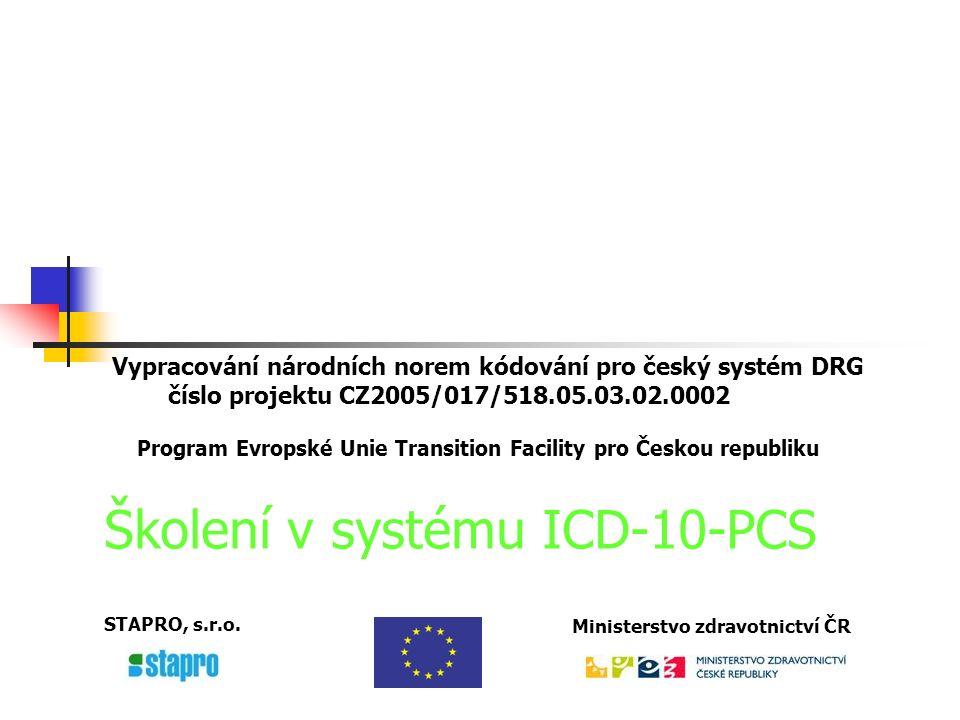 ICD-10-Procedure Coding System (ICD-10-PCS) Všechny sekce Pravidla