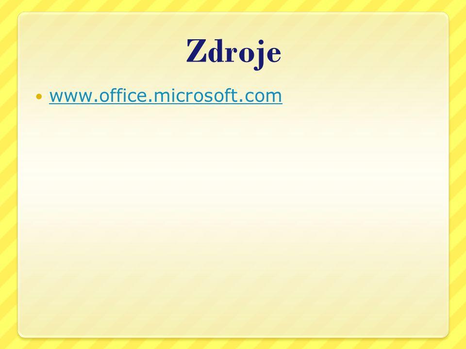 Zdroje www.office.microsoft.com