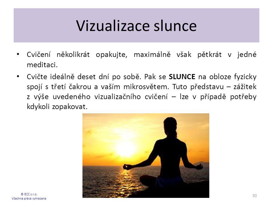 Vizualizace slunce Cvičení několikrát opakujte, maximálně však pětkrát v jedné meditaci.