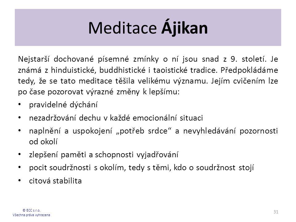 Meditace Ájikan Nejstarší dochované písemné zmínky o ní jsou snad z 9.