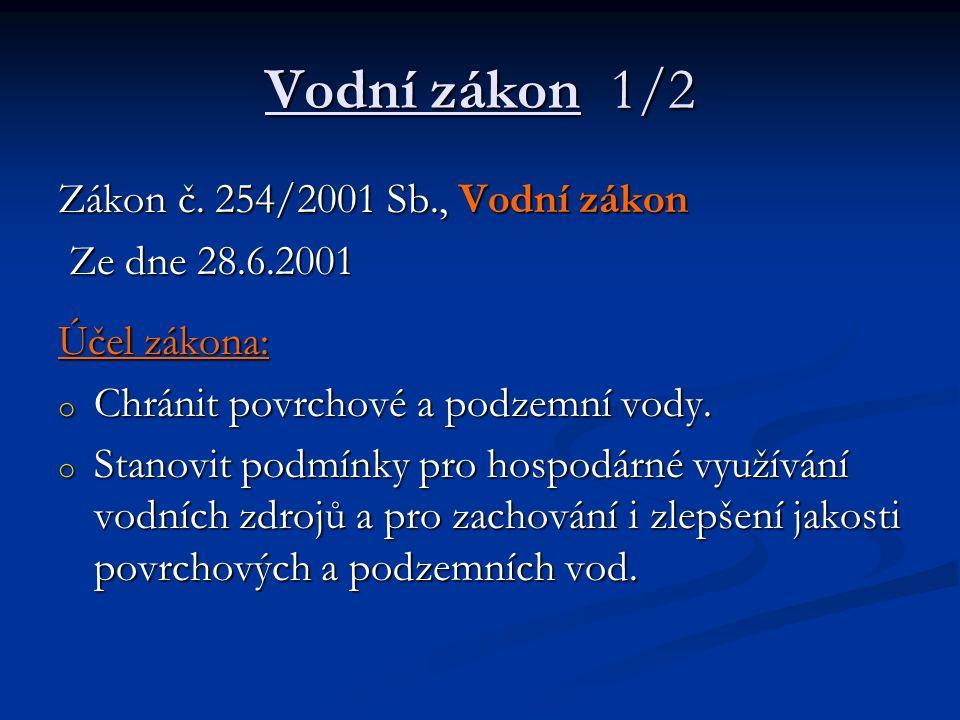 Vodní zákon 1/2 Zákon č.