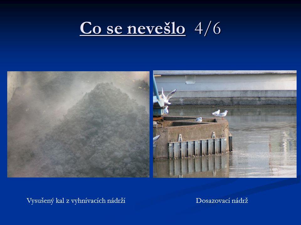 Co se nevešlo 4/6 Vysušený kal z vyhnívacích nádržíDosazovací nádrž