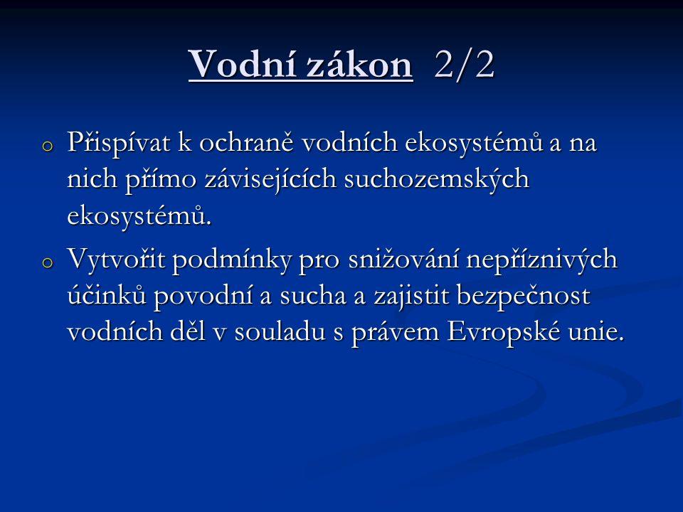 Zákon o vodovodech a kanalizacích pro veřejnou potřebu 1/2 Zákon č.