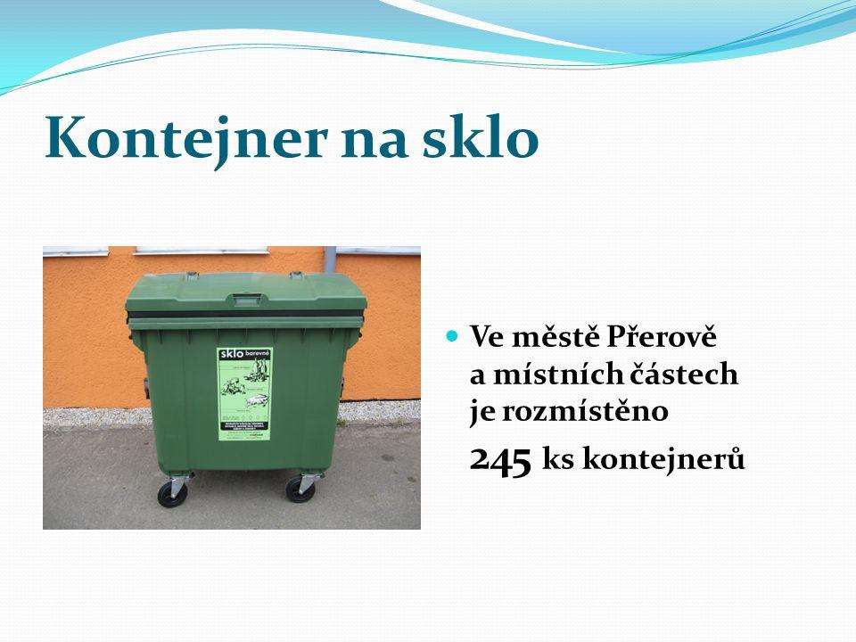 Kontejner na sklo Ve městě Přerově a místních částech je rozmístěno 245 ks kontejnerů