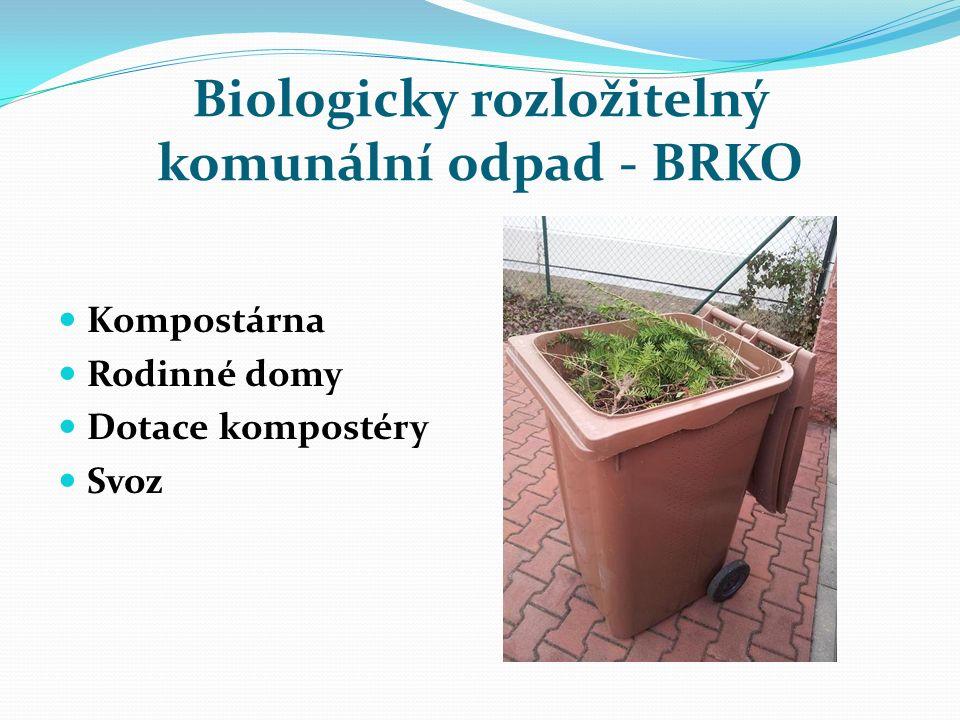 Biologicky rozložitelný komunální odpad - BRKO Kompostárna Rodinné domy Dotace kompostéry Svoz