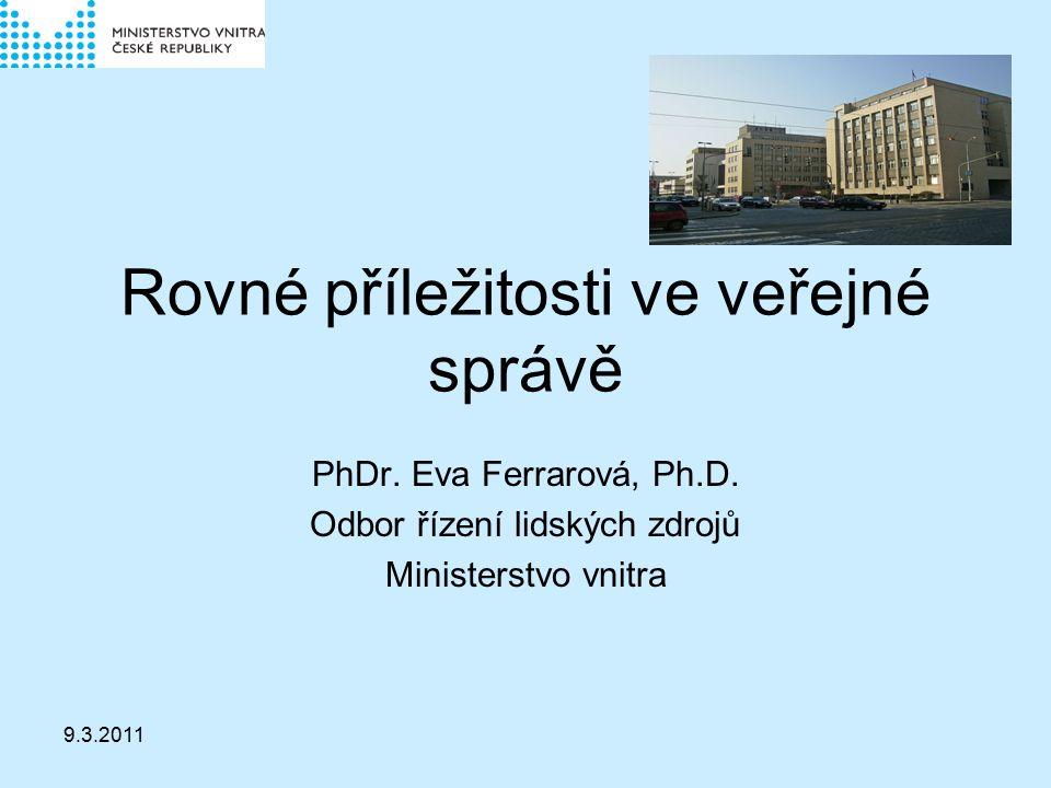 9.3.2011 Rovné příležitosti ve veřejné správě PhDr.