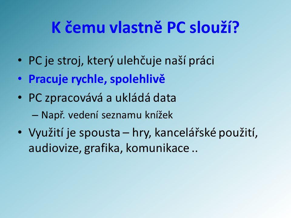 K čemu vlastně PC slouží.