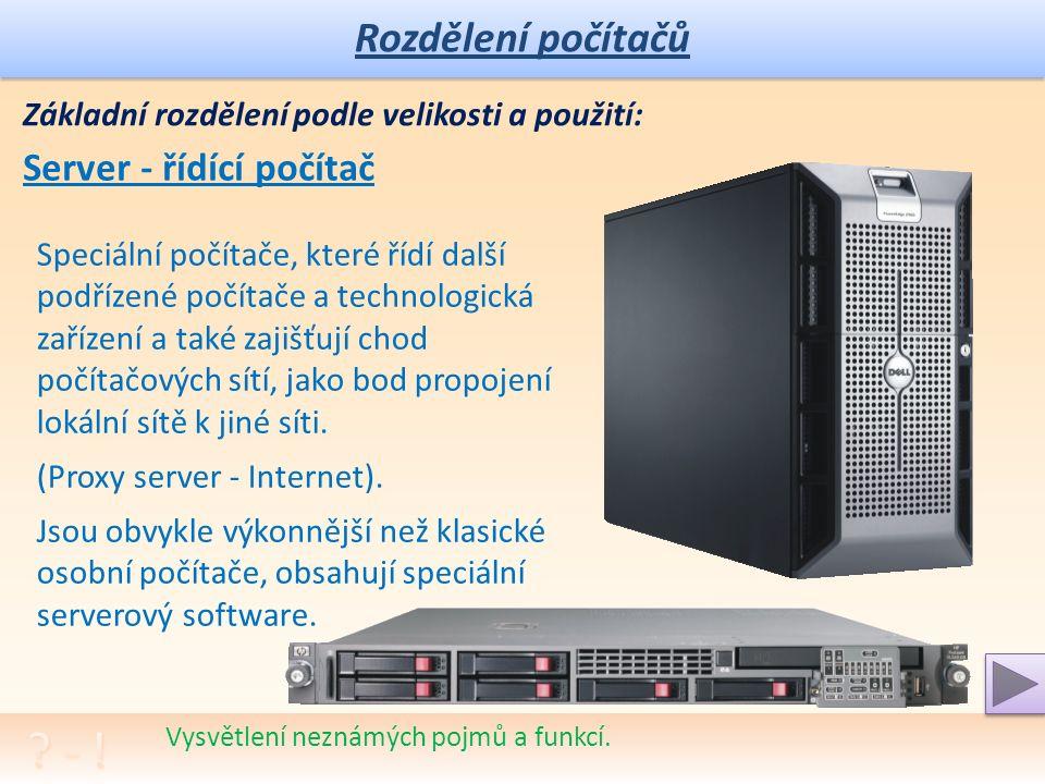Rozdělení počítačů Rozhovor na téma užitečnosti a způsobu využívání ICT.