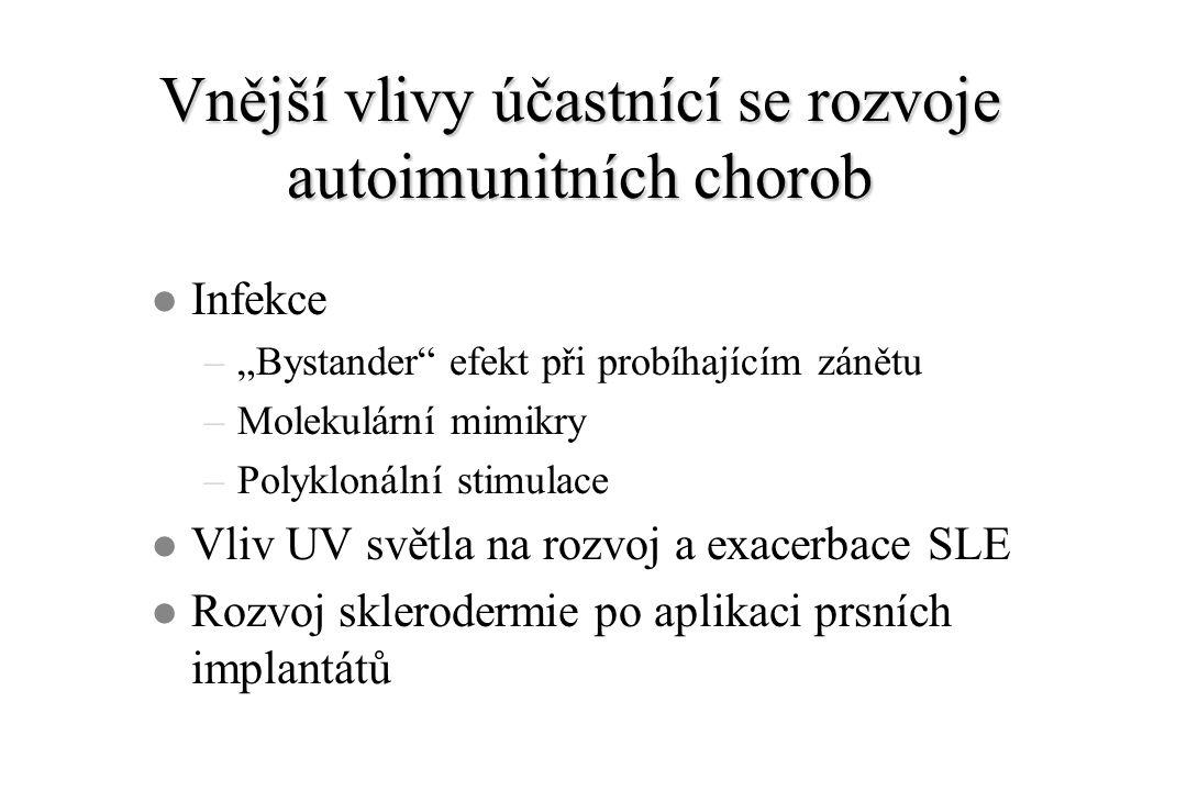 Sharpův syndrom (překryvná choroba pojiva) l Příznaky dalších systémových chorob pojiva.