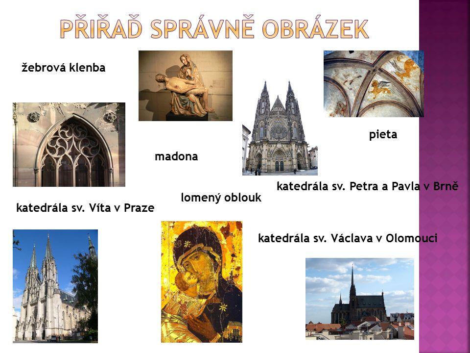 pieta madona žebrová klenba katedrála sv. Václava v Olomouci katedrála sv.