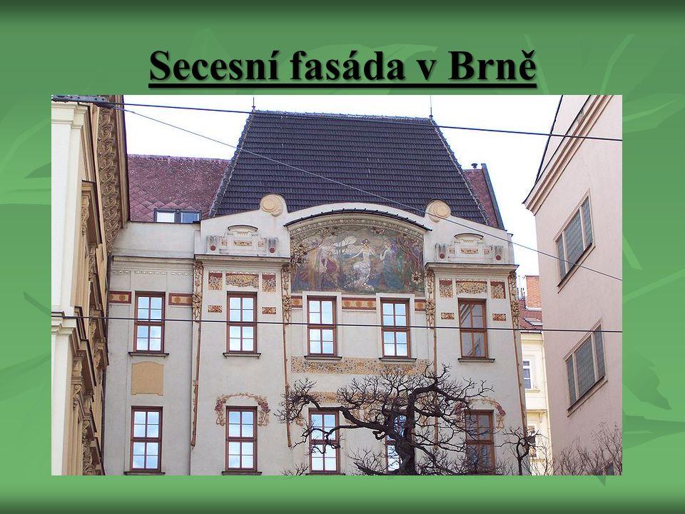 Secesní fasáda v Brně
