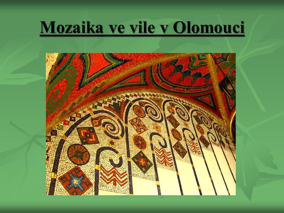 Mozaika ve vile v Olomouci