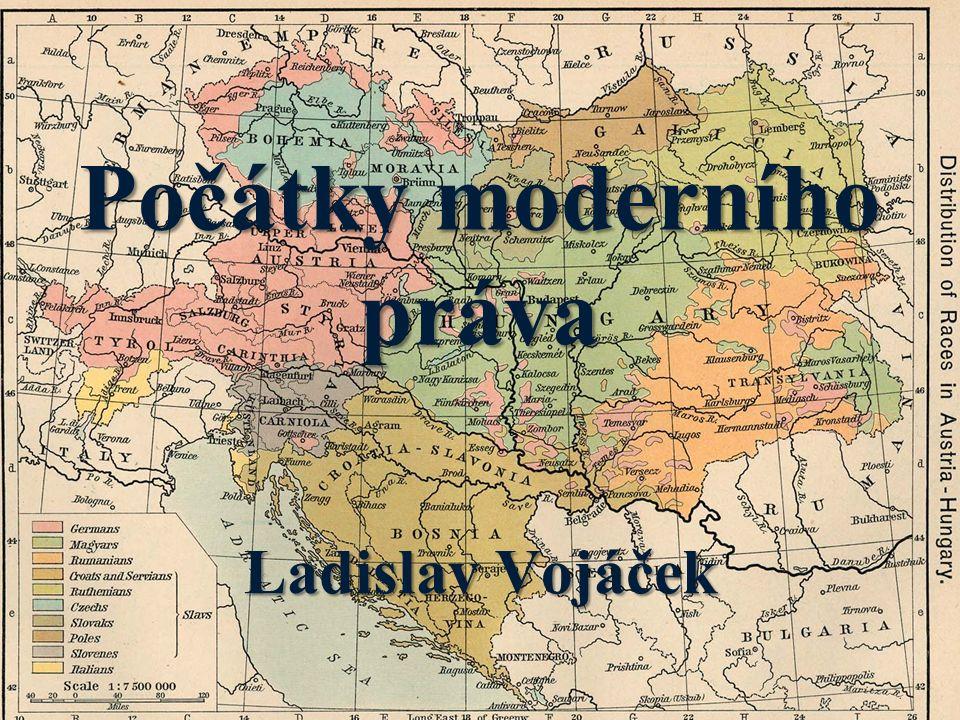 Středověké právo - vychází z nerovnosti před zákonem právní partikularismus právní partikularismus - je z velké části nepsané (právní obyčeje, volné nalézání práva) - upravuje užší okruh společenských vztahů - poskytuje malou míru právní jistoty