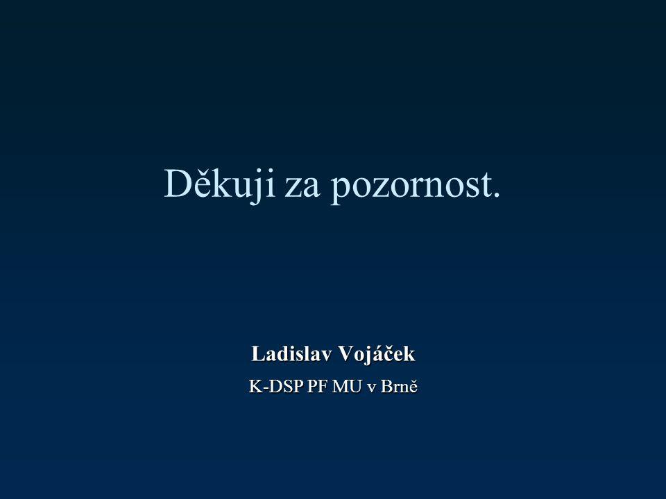 Děkuji za pozornost. Ladislav Vojáček K-DSP PF MU v Brně