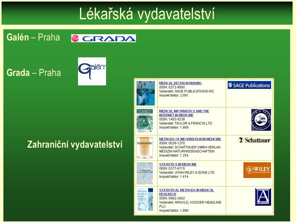 Galén – Praha Grada – Praha Lékařská vydavatelství Zahraniční vydavatelství