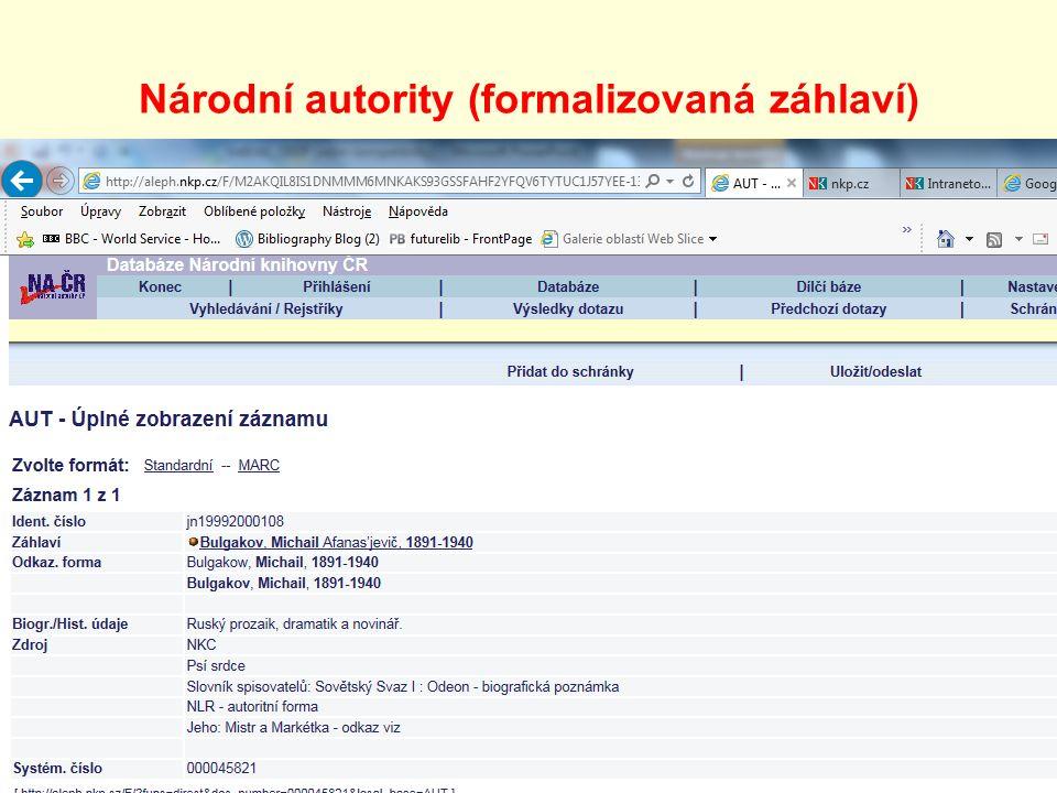 Národní autority (formalizovaná záhlaví)