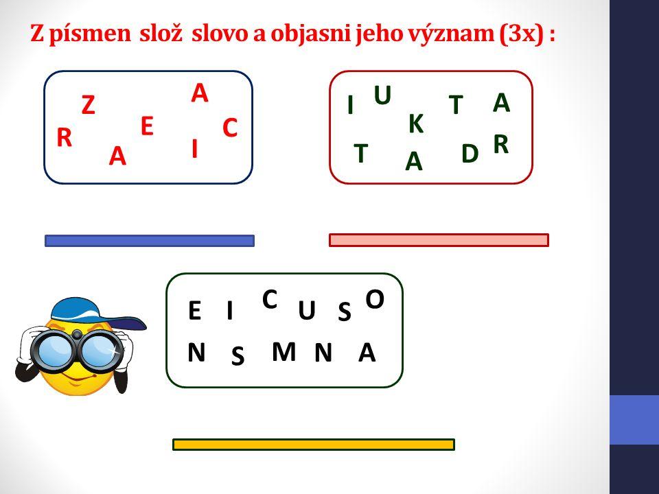 Z písmen slož slovo a objasni jeho význam (3x) : A R I Z A C E D I K T A T U R A N E O NA C I S M U S