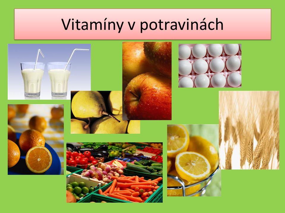 Vitamíny v potravinách