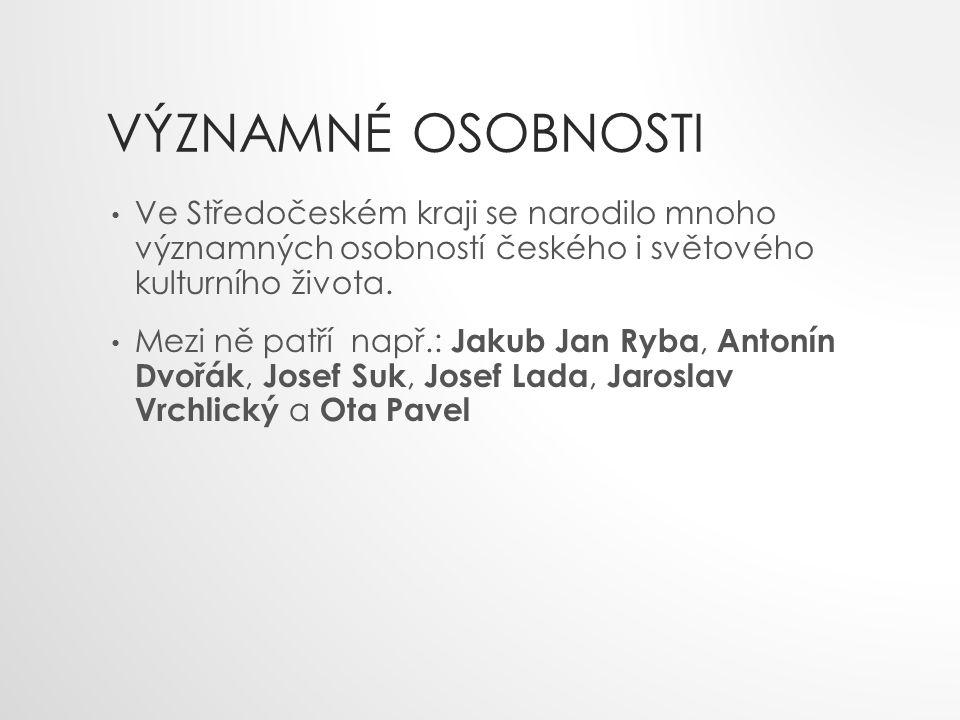 VÝZNAMNÉ OSOBNOSTI Ve Středočeském kraji se narodilo mnoho významných osobností českého i světového kulturního života.