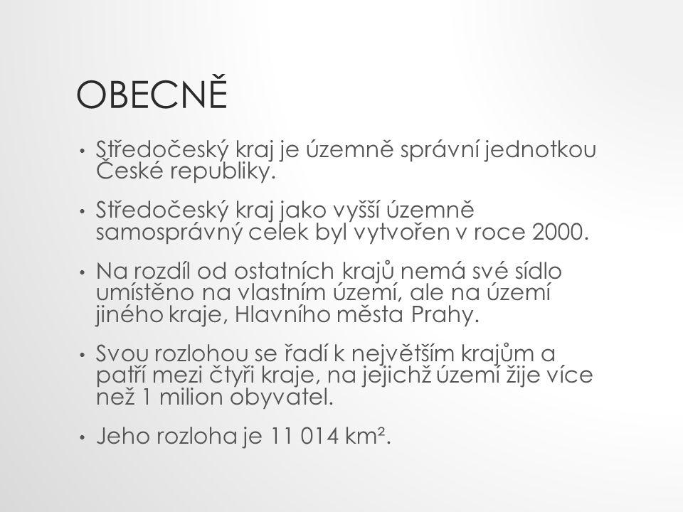 POLOHA Středočeský kraj leží uprostřed Čech.