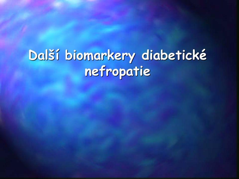 Další biomarkery diabetické nefropatie
