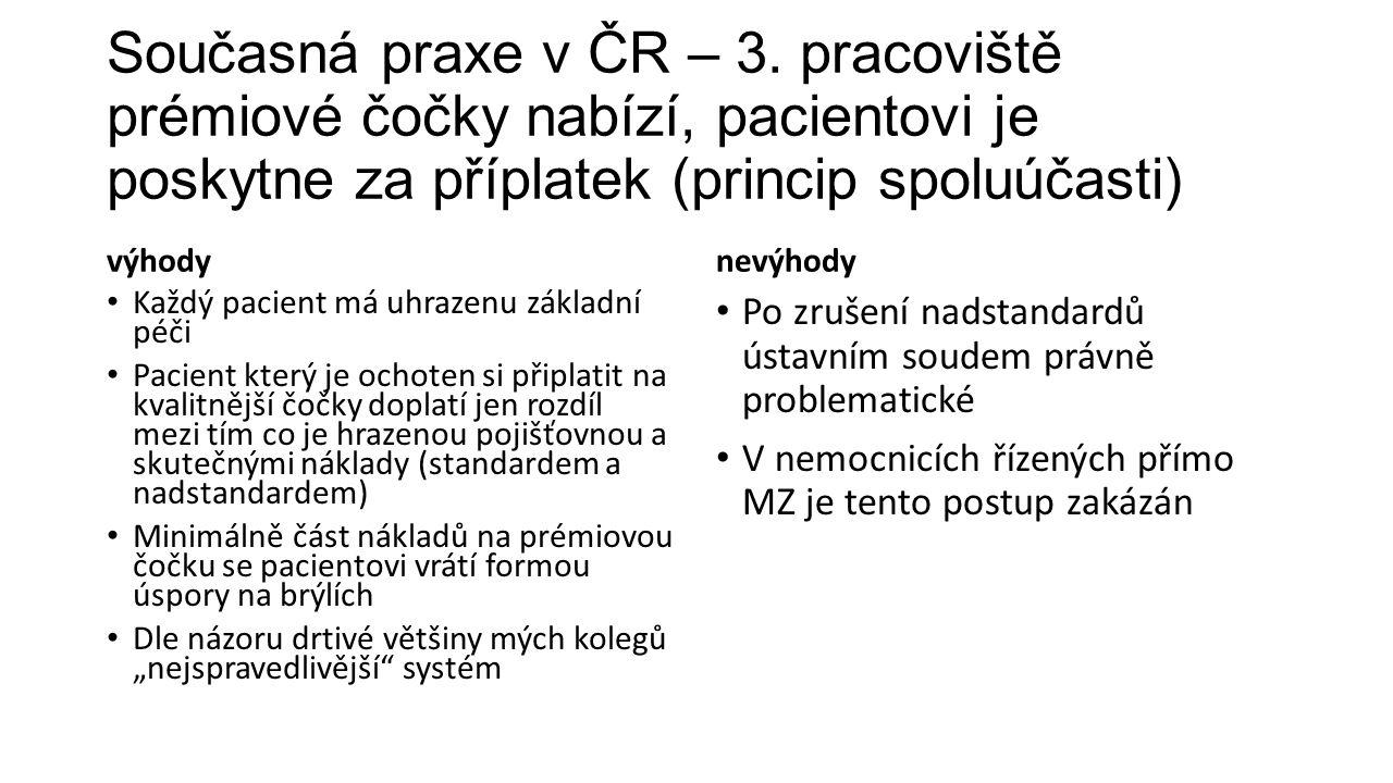 Současná praxe v ČR – 3.
