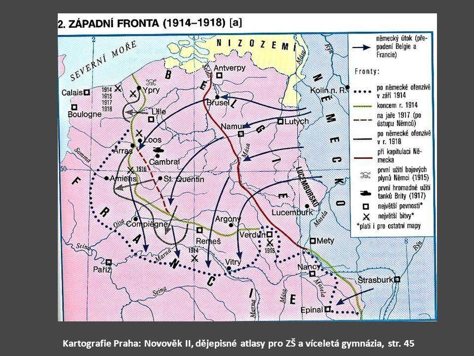 Kartografie Praha: Novověk II, dějepisné atlasy pro ZŠ a víceletá gymnázia, str. 45