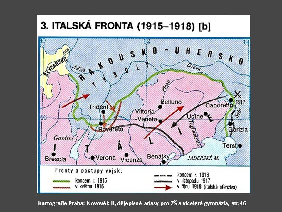 Kartografie Praha: Novověk II, dějepisné atlasy pro ZŠ a víceletá gymnázia, str.46
