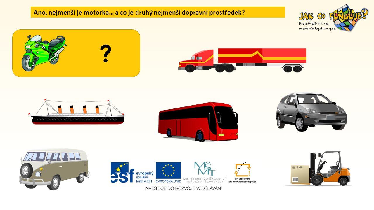 Který dopravní prostředek je nejmenší ve skutečnosti?