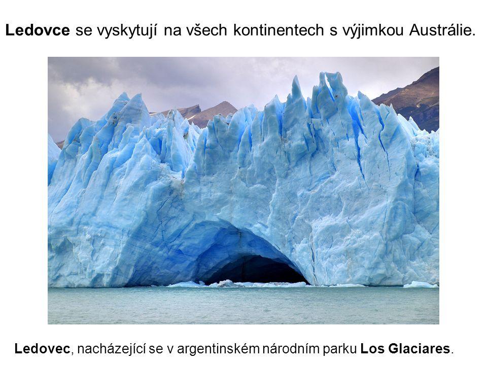 Ledovec, nacházející se v argentinském národním parku Los Glaciares.
